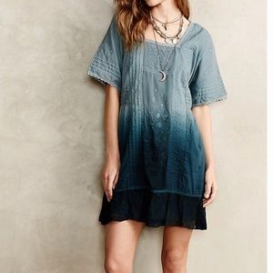 Anthropologie Ocean Dipped Tunic Dress